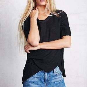 Free People Annie Tee Thermal Black